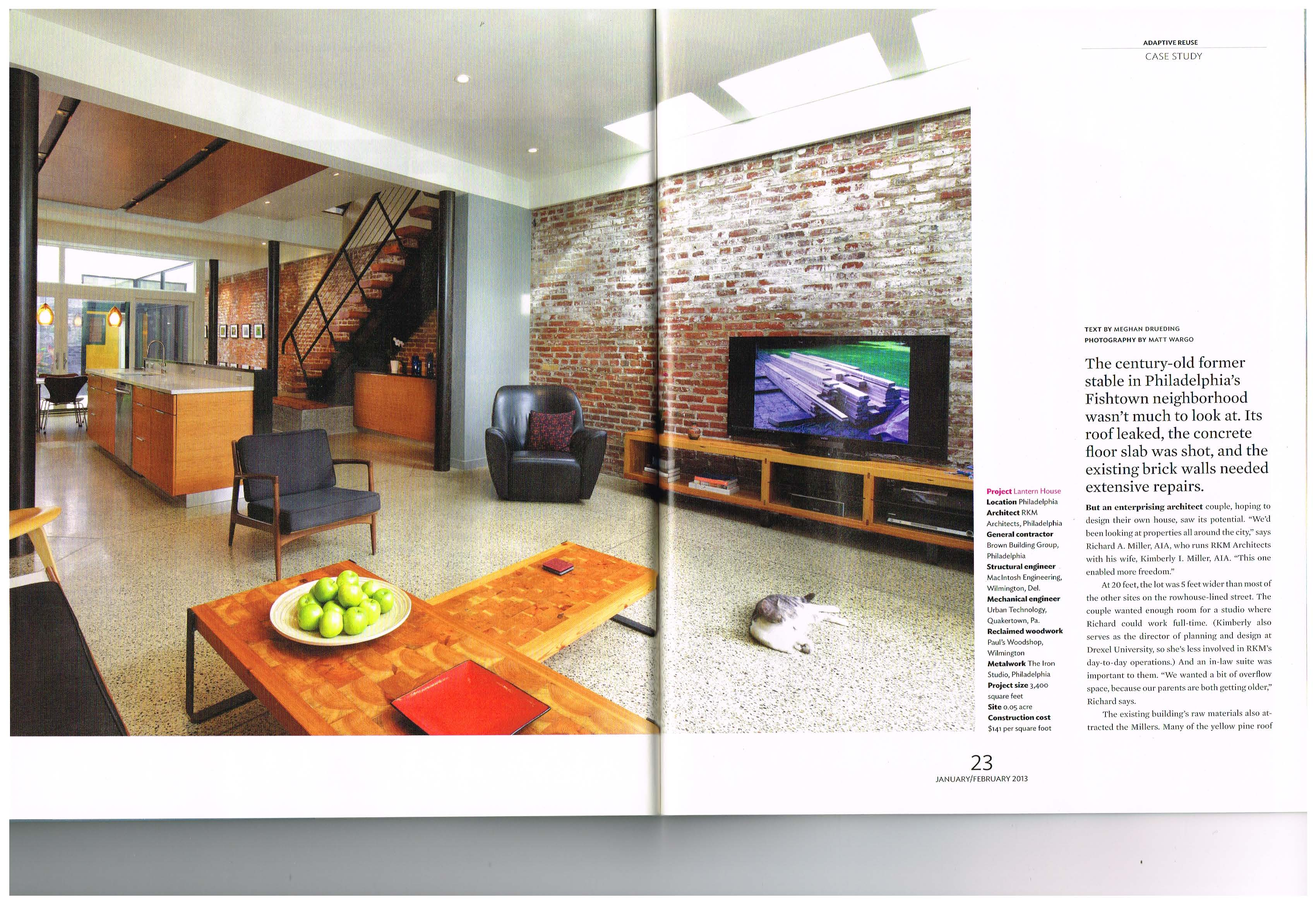 We Were Very Happy To Be Featured In Residential Architect Magazine, The  Publication Of The American Institure Of Architects.